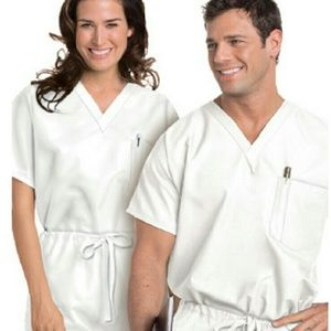 Landau Tops - *BUNDLE ALERT* XXL White Scrubs, scrub tops