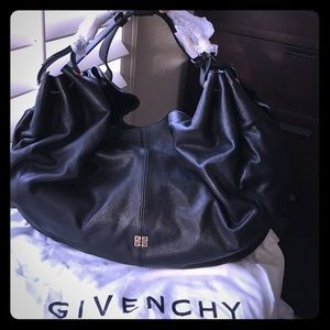 Givenchy Handbags - NWT Givenchy Black Leather Large Hobo