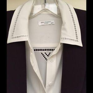 Equipment Tops - Equipment White Silk Blouse Size XS