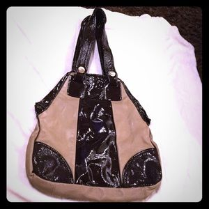 Gustto Handbags - Gustto Brown and Camel Leather Bag. Never Used.