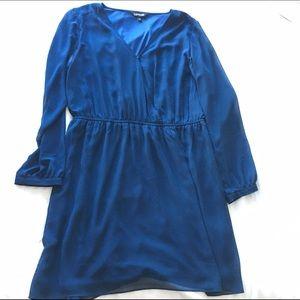 Express Dresses & Skirts - Navy Faux Wrap Dress