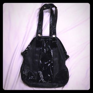 Gustto Handbags - Gustto Black Two-Tone Leather Bag. Never Used.