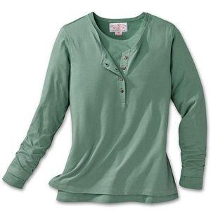 Filson Tops - Filson moss green women's knit 2-layer top