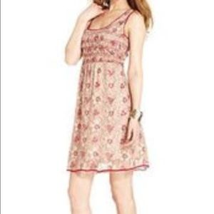 Studio M Dresses & Skirts - Studio M red and nude lace dress