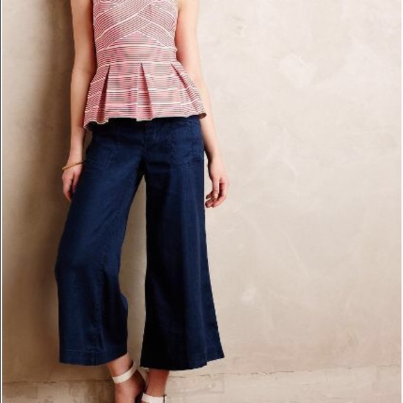81% off Anthropologie Pants - Anthropologie Level 99 rose cropped ...