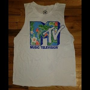 Recycled Karma  Tops - Recycled Karma Tropical MTV Sleeveless Top XL