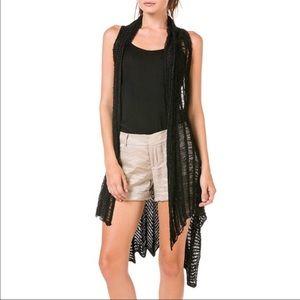 Miilla Clothing Sweaters - Miilla Draped Asymmetrical Knit Cardigan