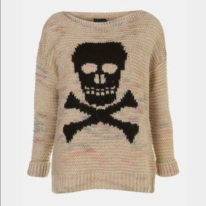 Topshop skull sweater