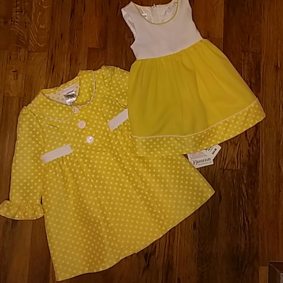 b9e01e676 Bonnie Baby Matching Sets | Yellow Coat Dress Set | Poshmark