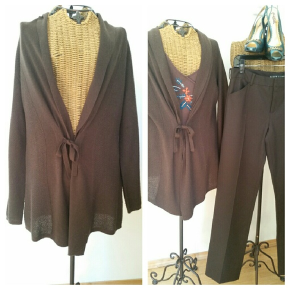 aea7809ef0 2for20 J JILL dark brown cardigan sweater XS