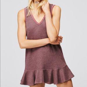 Free people pullover mini tunic drop waist dress