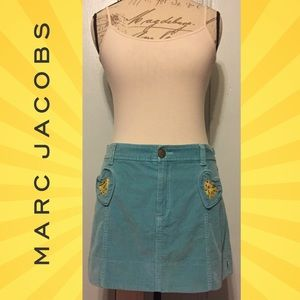 Marc Jacobs Dresses & Skirts - MARC JACOBS Cute Teal Corduroy Heart Mini Skirt
