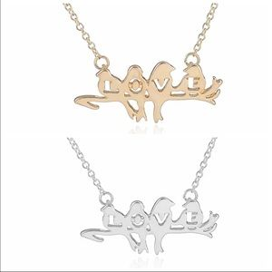 "J's Closet Jewelry - ""LOVE"" ❤️ Birds Dainty Necklace"