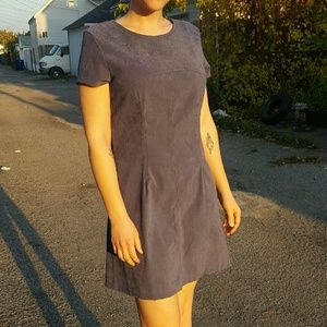 Vintage Sueded-Cloth Dress