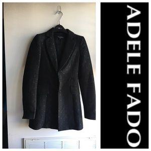 Adele Fado black fitted coat