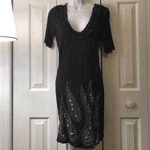 Xoxo black dress with silver sequin detail