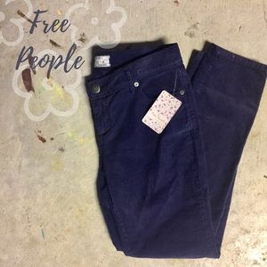 Free People Pants - Free People Dark Blue Cords