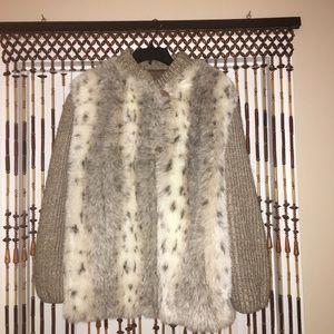 Jackets & Blazers - fuzzy 100% fur coat