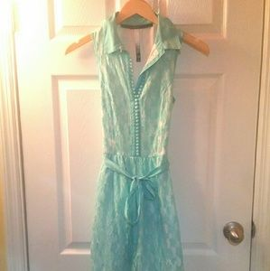 Kensie Lace Mint Green Dress