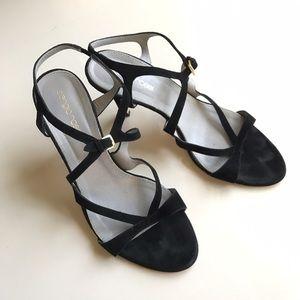 Sergio Rossi Shoes - Sergio Rossi Strappy Suede Heels