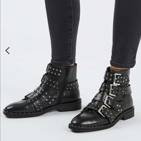 Sale Topshop Studded Ankle Boots   Poshmark
