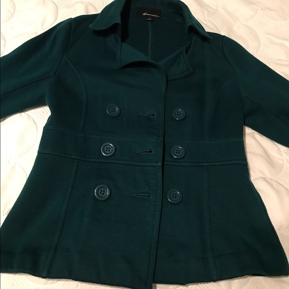 40% off Forever 21 Jackets & Blazers - Dark teal pea coat from ...