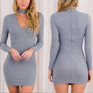 Choker Knit dress