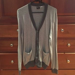 Men's BDG Cardigan (Grey) from Urban Outfitters