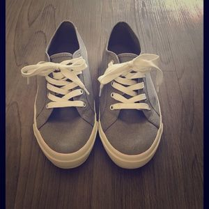 Shoes - Grey Canvas Sneakers
