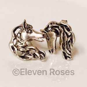 Equestrian Other - Sterling Stylized Equestrian Horse Head Cufflinks