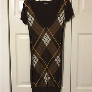 Brown Pleated Stradivarius Dress