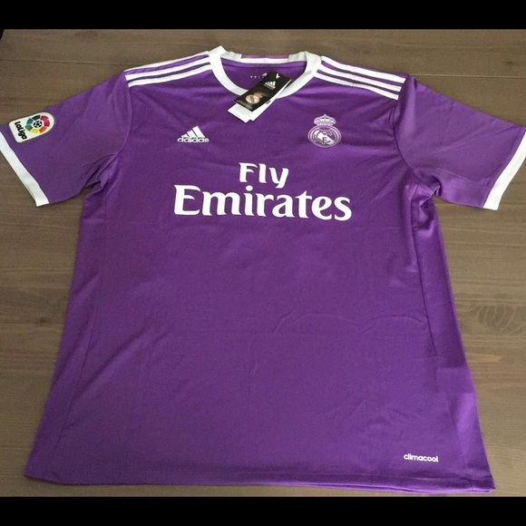 differently 6b18c 02f0d Real Madrid 16/17 purple Ronaldo #7 men soccer NWT