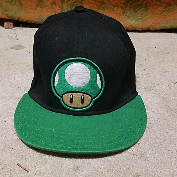 c4d91391fb4 Hot Topic Accessories - Mario 1-Up Mushroom Snapback hat