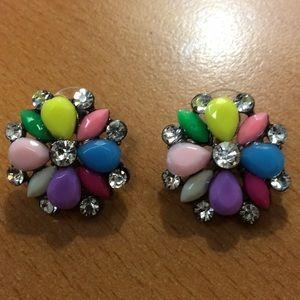 New Colorful Stud Earrings