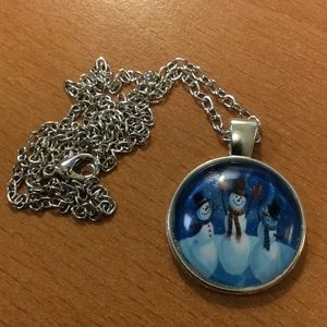 Jewelry - New Holiday Snowman Charm Necklace