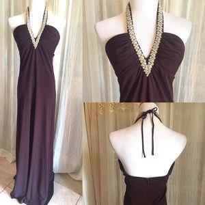ABS Allen Schwartz Dresses & Skirts - Long Brown Formal
