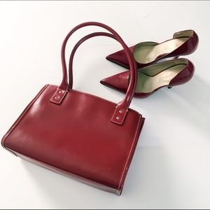 Wilsons Leather Handbags - True Red Wilsons Leather Handbag Good Condition