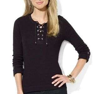 Lauren Ralph Lauren Tops - 🎉2x HP🎉Lauren Ralph Lauren Lace Up Top