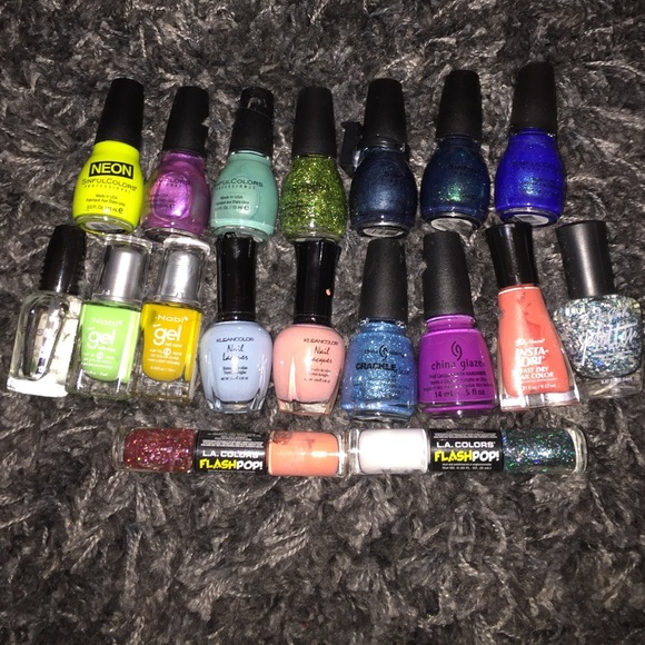 china glaze Other | 18 Nail Polishes Lots Of Colors Brands | Poshmark