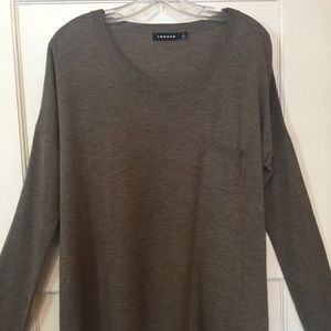 Trouve Sweaters - Nordstrom/Trouve scoop neck,chestnut, polo sweater