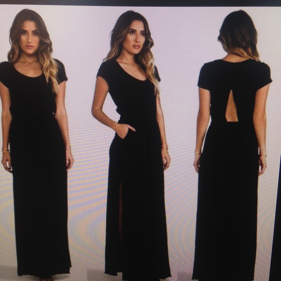59219556af Free People Dresses & Skirts - Black Free People Beach Maxi Dress