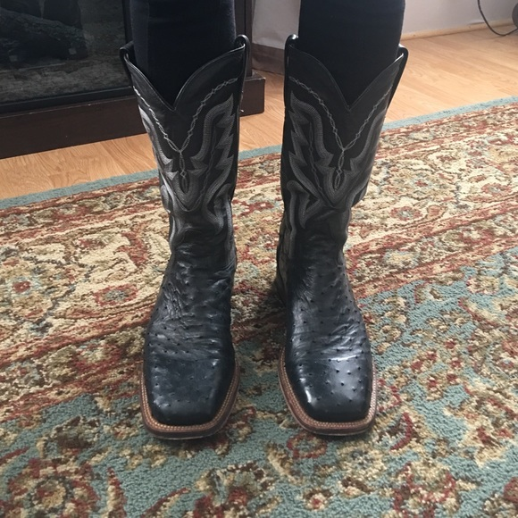 d9c181b120f Men's dan post ostrich leather boots size 10 1/2 D