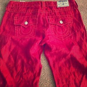 Linen True Religion Pants Size 28