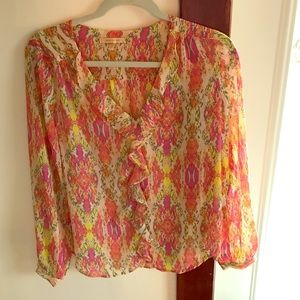 skies are blue Tops - Skies are blue blouse size small pink yellow