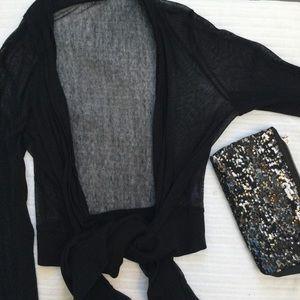Vivienne Tam Sweaters - Vivienne Tam Tie Front Cardigan