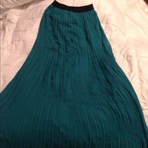 Pleated Teal Skirt
