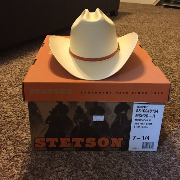 NWT Stetson cowboy hat 02a61db04335