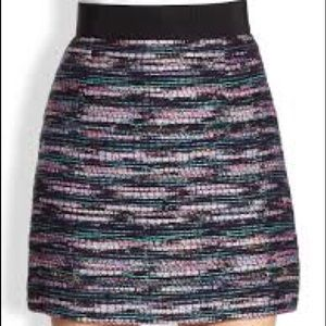 Milly Dresses & Skirts - Milly metallic tweed skirt purple and black size 6