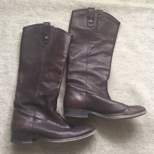 "FRYE chocolate brown ""Melissa"" boots size 8"