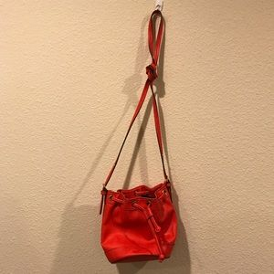 Neiman Marcus Bags - Neiman Marcus poppy faux leather bucket bag purse